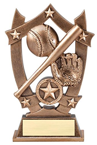 Decade Awards Baseball or Softball 3D Gold Sport Stars Trophy - Star MVP Player Award - 6.25 Inch Tall - Customize Now