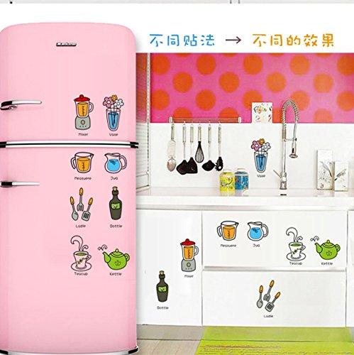 Hongrun Enfants Cartoon wall-trois générations pour déposer les ustensiles de cuisine les enfants apprennent tôt le mur des affiches petit mur-55*40cm