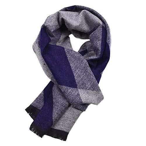 Unbekannt Exquisit und vielseitig Bequem und praktisch Herren-Schal Schal weicht Dicke Schal Schal Wintererholung, 12 * 70 Zoll j0111 (Color : Blue)