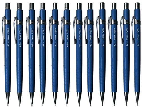 Pentel Druckbleistifte P207C blau 0,7 Metallspitze inkl 6 Minen Radierer Griff