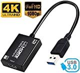 Microware 4K Video Capture Card, 4K HDMI USB 3.0 1080P Reliable Portable Video