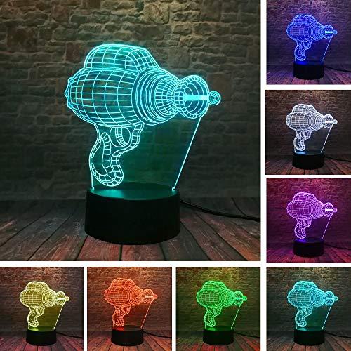 Boormachine 3D voetbal nachtlampje, optische illusie LED nachtlampje USB tafellamp, voor kinderen Kerstmis verjaardag beste cadeau speelgoed