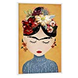 artboxONE Poster mit weißem Rahmen 90x60 cm Frida Kahlo