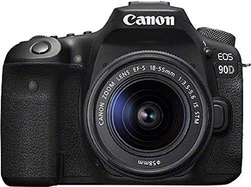 Canon EOS 90D - Cámara Réflex de 32.5 MP (Sensor APS-C, 45 Puntos AF, Disparos de 10fps, EOS Movie 4k+Full HD, Wi-fi, Bluetooth) Negro - Kit Cuerpo con Objetivo EF-S 18-55mm f/ 3.5-5.6 IS USM