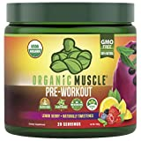 Organic Muscle Pre-Workout Powder - Certified USDA Organic & Vegan with Clean,...