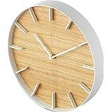 山崎実業(Yamazaki) 掛け時計 ナチュラル 約W26.5XD26.5XH4.2cm RIN 4109