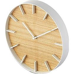 Yamazaki Home Rin Wall Clock – Modern Wood Home Decoration