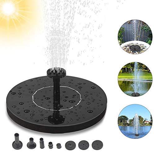 PINPOXE Solar Springbrunnen, Solar Teichpumpe 2020 Upgrade, Solarbrunnen, mit 5 Effekte Solar Wasserpumpe Solar schwimmender Fontäne Pumpe für Gartenteich Oder Springbrunnen Vogel-Bad Fisch-Behälter