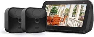 Echo Show 5 (Charcoal) with All-new Blink Outdoor – 2 camera kit