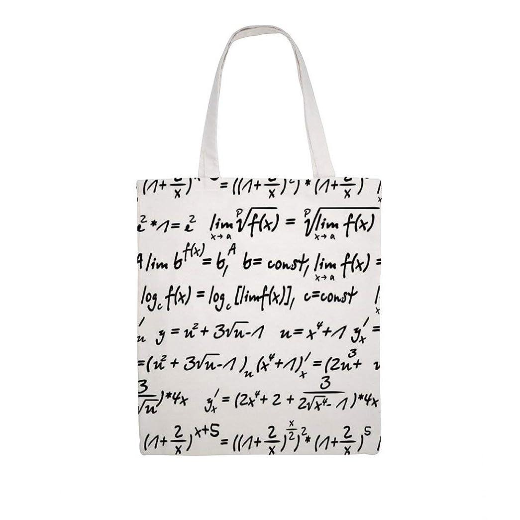 マエストロ伝えるバケットエコバッグ ショッピングバッグ トートバッグ メンズ レディース ショルダーバッグ 数学 方程式 オシャレ シンプル 手提げ キャンバス 帆布 ハンドバッグ