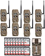 Cuddeback CuddeLink J Series Long Range IR Trail Camera (8-Pack), 20 Megapixels with 16 SD Cards