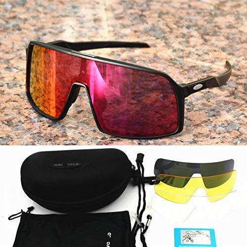 Occhiali da ciclismo polarizzati Uomo donnaOcchiali Strada Mtb Mountain Bike Bicicletta Occhiali Occhiali Sole- Sutro-nero