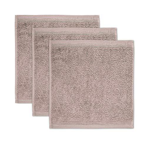möve Superwuschel Seiftuch 30 x 30 cm aus 100% Baumwolle, cashmere 3er Set