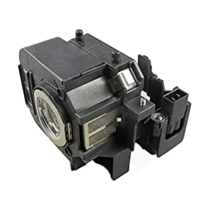 Supermait EP50 Replacement Projector Lamp Bulb with Housing Compatible with Elplp50 Compatible with EB-824 EB-825 EB-826W EB-84 EB-84e EB-84he EB-85 EMP-825 EMP-84he PowerLite 825 PowerLite 825+ Lamp