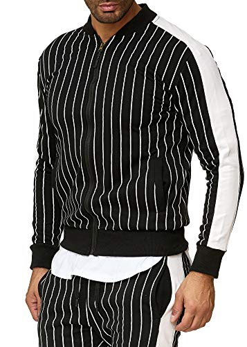 OneRedox | Herren Trainingsanzug | Jogginganzug | Sportanzug | Jogging Anzug Jogging-Anzug Modell A14 Schwarz S