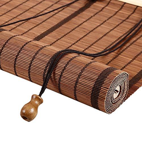 Raam zonnescherm Bamboe Roll Up Gordijn, houten Romeinse Roll Up jaloezieën voor ramen/deuren, Bamboe jaloezieën paneel voor binnen buiten, Bamboe gordijn voor ramen Roll Up