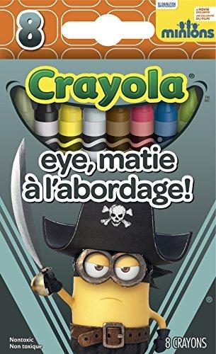 Crayola Minions The Movie Premium Crayons 8 Count (Eye Matie)