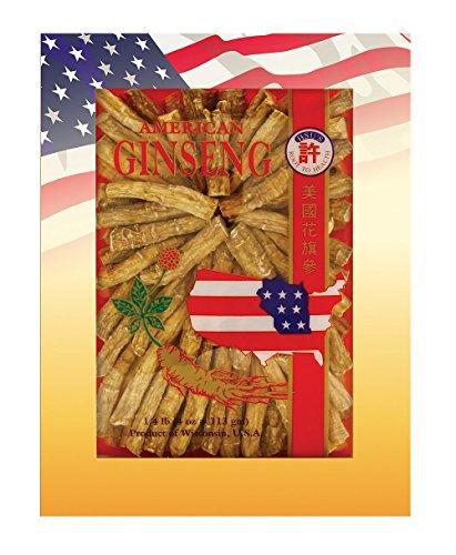 SKU #0121-4, Hsu's Ginseng Cultivated American Ginseng Large Prong (4...