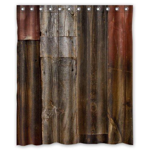 CHARM HOME Waterproof Decorative Rustic Old Barn Wood Art...