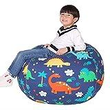 Puf de 60 cm para niña, puf, bolsa para sentarse, bolsa para asiento con almacenamiento, puf para llenar a los niños, almacenamiento de peluches con cremallera para la ropa todos los días