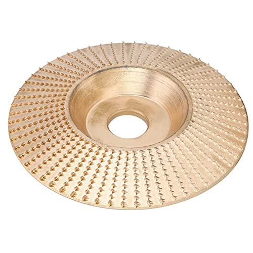 MIJPOJAN Herramienta 100x16mm Golden Bevel Tallaforma de conformidad Ángulo de Disco Grinder Herramienta de la Rueda de molienda para la Madera Materiales no metálicos