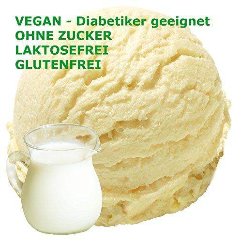 Eispulver VEGAN - OHNE ZUCKER - LAKTOSEFREI - GLUTENFREI - FETTARM, auch für Diabetiker Milcheis Softeispulver Speiseeispulver Gino Gelati (Buttermilch, 1 kg)