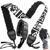 JJQHYC 2 Piezas Correa de Cámara, Correa Camara de hombro y cuello,Cinturón Ajustable de Cuello Adecuado para Cámaras DSLR y Sin Espejo Negro