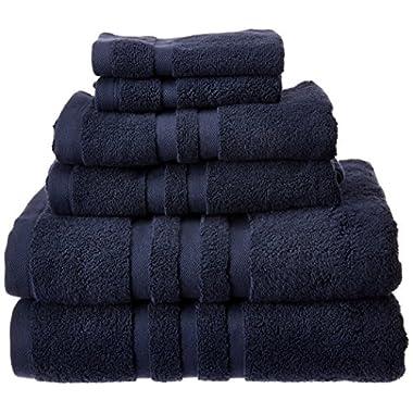 Chortex Irvington Luxury 6 Piece Towel Set, Navy