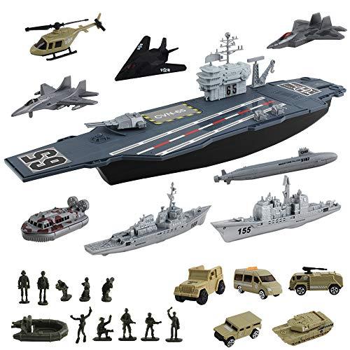 deAO Nave Aérea Modelo Portaaviones de Juguete a Pequeña Escala Incluye Accesorios