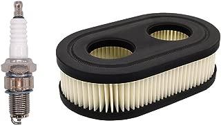 NIMTEK Oval Replacement Air Filter with Spark Plug for Troy-Bilt TB110 TB115 TB200 TB230 TB330 TB370 MTD Yard Machines Murray Craftsman Lawn Mower Parts