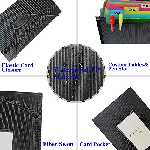 Accordian File Organizer with Labels and Flap,13 Pockets Expanding File Folders, Accordion Filing Folder Document Holder for Paper Reciept Check Paperwork Storage,A4 Letter Size,Custom Tabs Photo #6