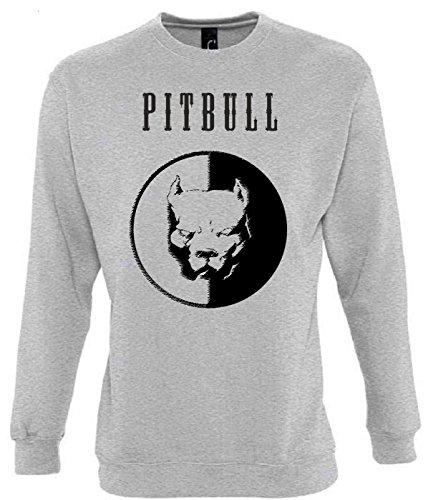 Unbekannt Pitbull Funny Mens & Ladies/Herren & Damen Unisex Sweatshirts (M)