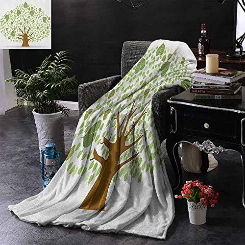 ZSUO bank deken Illustratie van een grote boom op antieke oud papier Vintage stijl Artwork Design Print Zachte zomer koeling lichtgewicht bed deken