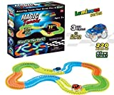 Plutofit® Magic Tracks Bend Flex & Glow Racetrack with LED Flashing Race Cars