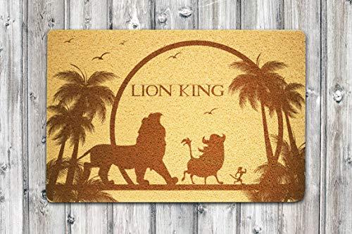 StarlingShop León King Disney - Felpudo para puerta de rey león, diseño de rey león, ideal para decoración al aire libre, regalo de cumpleaños