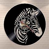 fdgdfgd Disco de CD clásico Safari Animal Decoración Familiar Disco de Vinilo de Cebra Caballo de Cebra Animales Salvajes africanos | Decoración del hogar única