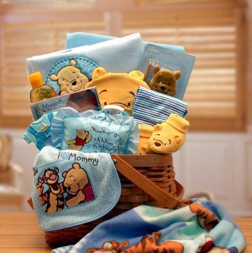 BabyGift Winnie The Pooh - Cesto regalo per bambini, colore: Blu