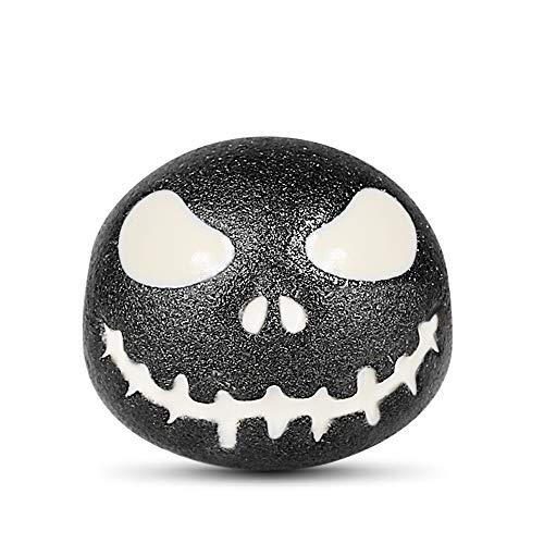 GNOCE Luminous Jack Skull Charm Bead Glow In The Dark S925 Silver Skull Charms Beads Se adapta a...