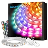 Govee LED Strip Lights 16.4ft Waterproof Color Changing Light Strips with Remote, Bright 5050 and Multicolor RGB LED Lights for Room, Bedroom, Kitchen, Yard, Party, Christmas