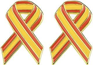 Juego de 2 x Bandera de España Cinta de Metal Estilo Pin Insignias 21 mm x 15 mm