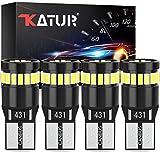 KATUR Bombilla LED 194 168 2825 W5W T10 24-SMD 3014 Conjuntos de Chips Bombillas LED CANBUS Sin Errores para el Domo del automóvil Mapa de cortesía Puerta Luces de matrícula (4 Piezas, Blanco)