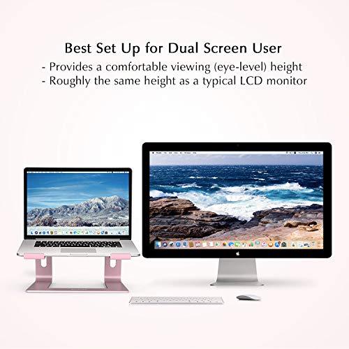 BoYata Laptopständer: Demontierbar mit Belüftung, Tragbarer Notebook Ständer Kompatibel mit Laptop (10 inch~15.9 inch) MacBook Pro/Air, HP, Dell, Lenovo, Samsung, Acer, Huawei MateBook (Rosa