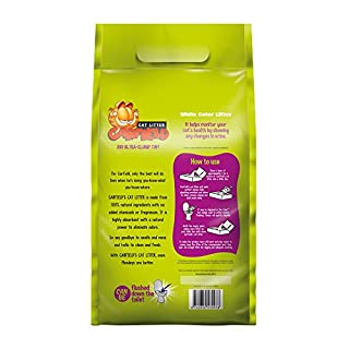 اسعار Garfield Cat Litter All Natural, Fast clumping, Purrfect for Multi-cat Homes | DUST Free, Chemical Free, Clay Free | Biodegradable & Flushable. Tiny Grains