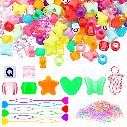 1726 Pieces Hair Pony Beads Butterf…