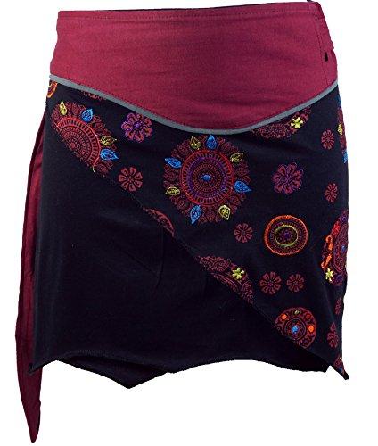 Guru-Shop, Mini Falda de Boho Chic, Falda del Abrigo, Falda de las...