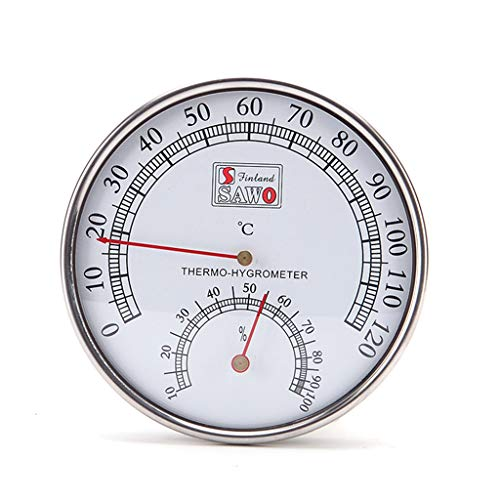 Qianqian56 Sauna Thermometer Metalen Case Stoom Sauna Kamer Thermometer Hygrometer Bad en Sauna Indoor Outdoor Gebruikt
