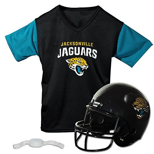 Franklin Sports NFL Jacksonville Jaguars Kids Football Helmet and Jersey Set - Youth Football Uniform Costume - Helmet, Jersey, Chinstrap - Youth M