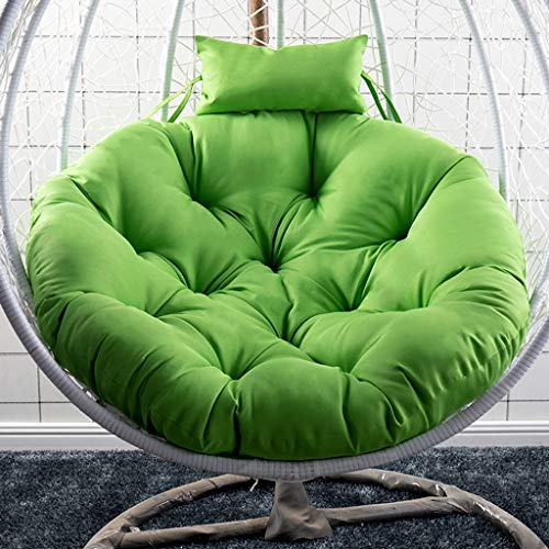 GOPG Hanging Egg Chair Hanging Basket Seat Cushion, Detachable Soft Hanging Mat Cushion Chair Cushion Swing Mat Back Cushion Suitable for Indoor/Outdoor-Green