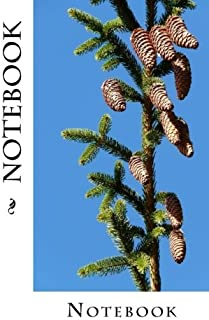 Notebook: Pine Cones Design, 150 lined pages, softcover, 5