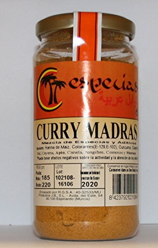 Curry Madras en Polvo Curry Madras Powder 185 grs